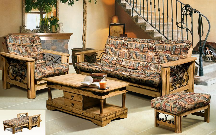 Серия мебели Викинг в варианте искуственного старения - Лидамебель